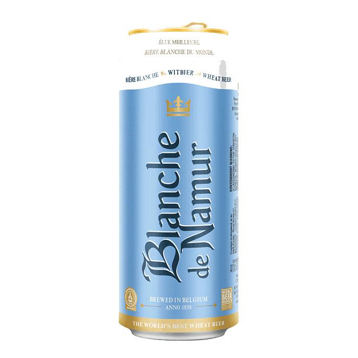 Blanche de Namur Birra Chiara Dolce 50 cl Lattina Gradazione Alcolica 4,5%