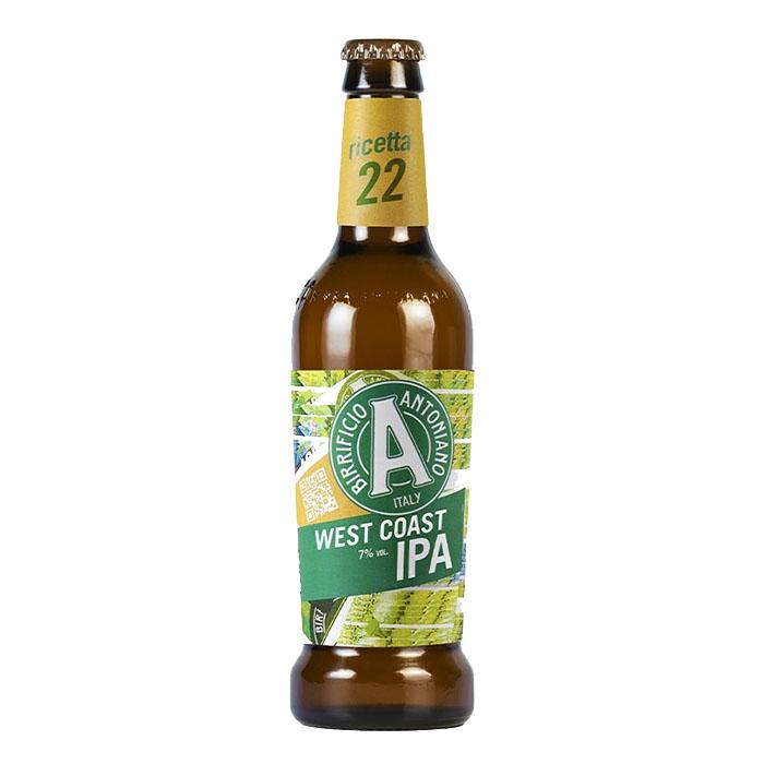 Birra Antoniana West Coast IPA 33 cl Birra Chiara Amara Gradazione Alcolica 7%