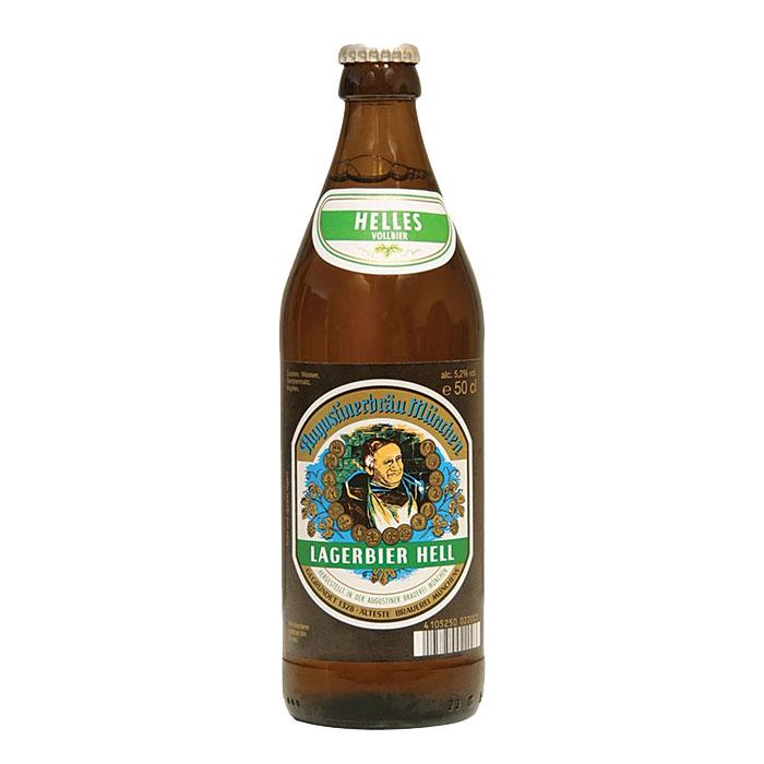 Augustiner Lagerbier Hell 50 cl Birra Chiara Dolce Gradazione Alcolica 5,2%