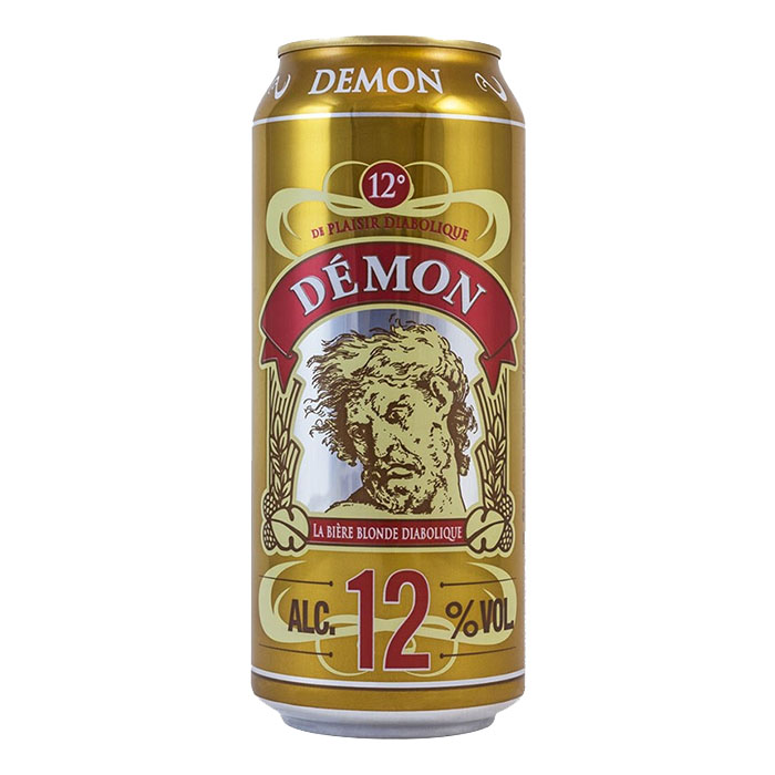 La Biere Du Demon 50 cl Lattina Birra Chiara Dolce Gradazione Alcolica 12%