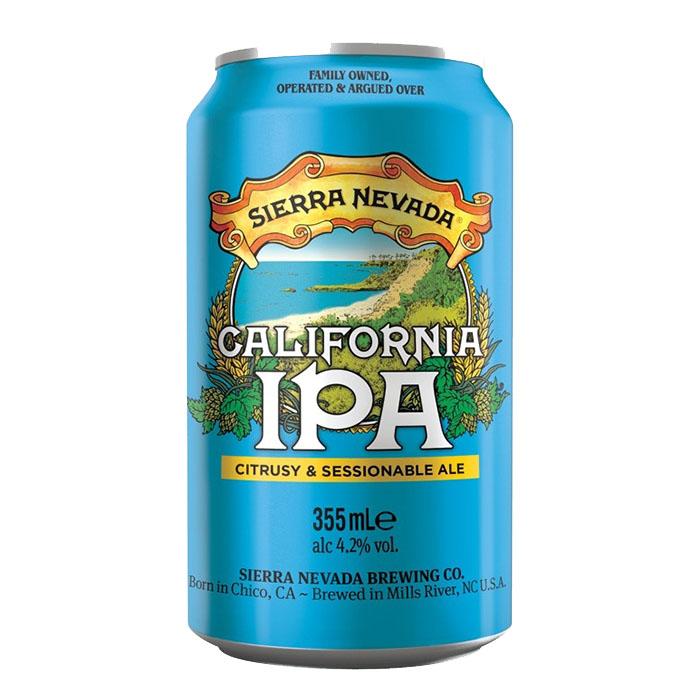 Sierra Nevada California IPA 35,5 cl Lattina Birra Chiara Amara Gradazione Alcolica 4,2%