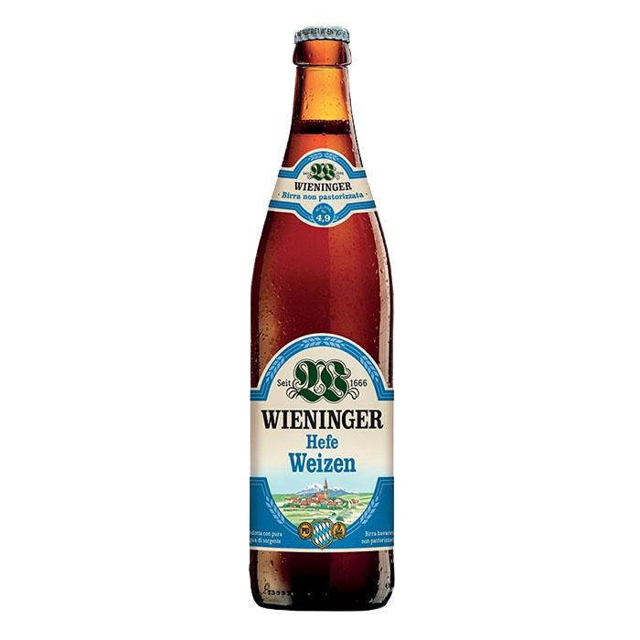 Wieninger Hefe Weizen 50 cl Birra Chiara Dolce Gradazione Alcolica 4,9%