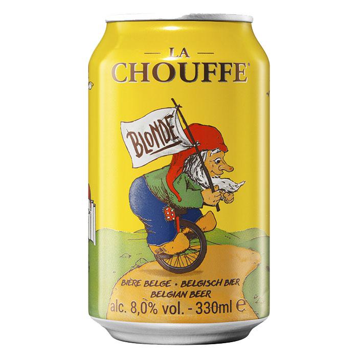 La Chouffe Birra Chiara Dolce 33 cl Lattina Gradazione Alcolica 8%