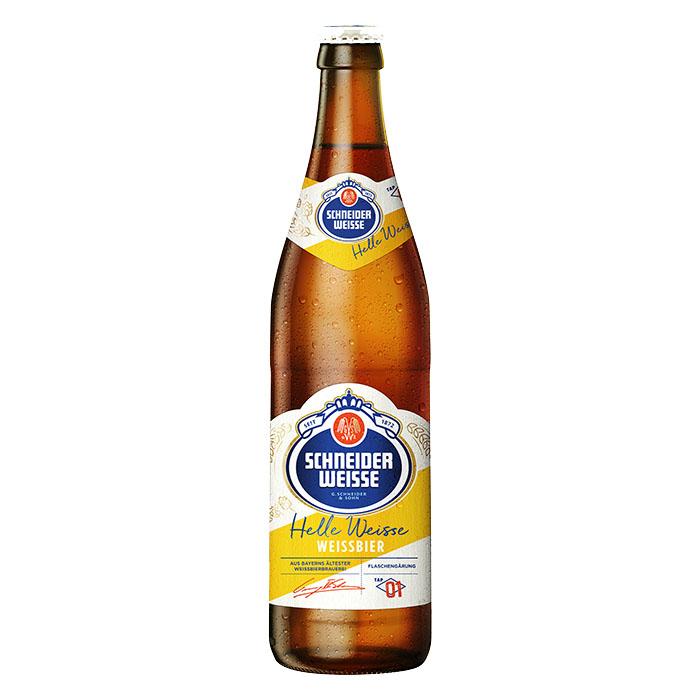 Schneider Weisse Helle Weisse TAP 1 50 cl Birra Chiara Dolce Gradazione Alcolica 4,9%