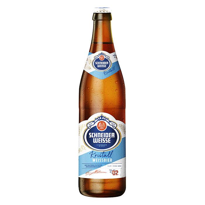 Schneider Weisse Kristall TAP 2 50 cl Birra Chiara Dolce Gradazione Alcolica 4,9%